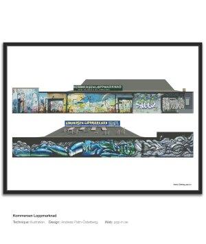 Kommersen loppmarknad framed print