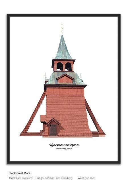 Klocktornet Mora framed