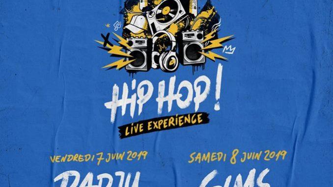Affiche de Disneyland Paris annonçant le concert hiphop du 7 au 8 juillet 2019