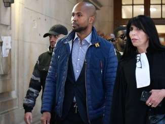 Rohff en compagnie de son avocate, lors de son procès en juin 2019