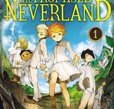 La couverture officielle du manga The Promised Neverland
