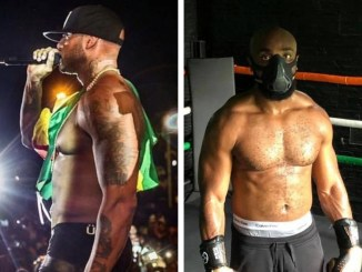 Photo montage de Booba (à gauche) et Kaaris (à droite)