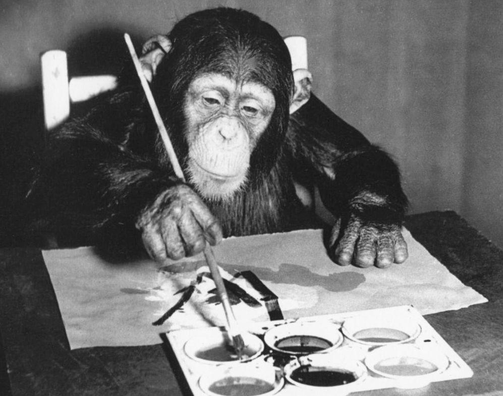 Chimpanzé Congo: une cinquantaine de ses peintures à voir en décembre à Londres
