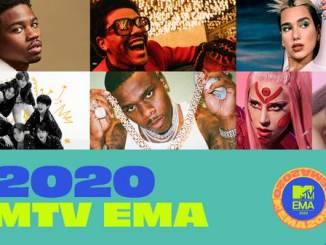 Une affiche du MTV EMA.