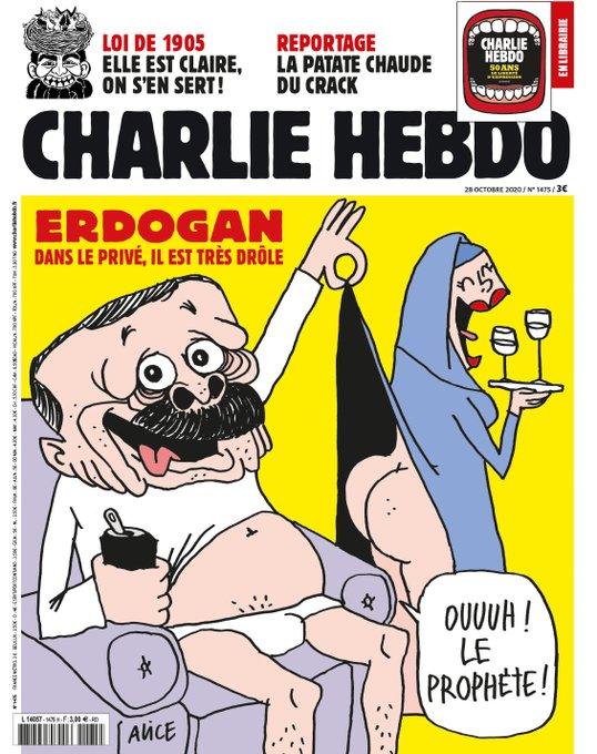 Caricature: Charlie hebdo se moque d'Erdogan