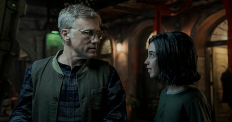 Christopher Waltz & Rosa Salazar in Alita: Battle Angel