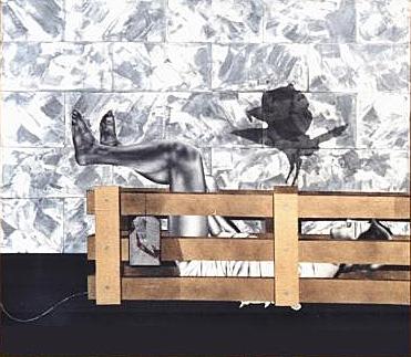Lustri Stefano Titolo: Lungo il muro Anno 1977 Cm: 70 x 80 Tecnica: Olio e smalto su tela