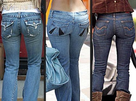"""girlfriends or wives, """"Honey, do these jeans make my butt look too big?"""""""