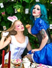 Alice_tea_party_with_Bunny_by_Voodica