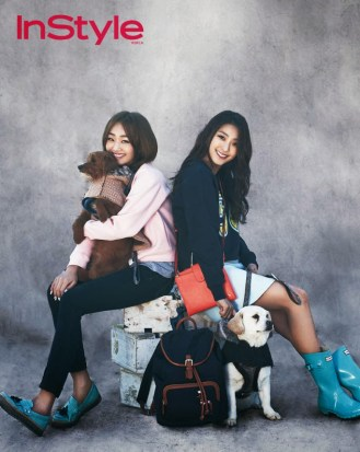 Bora and Hyorin SISTAR - InStyle Magazine March Issue 2014