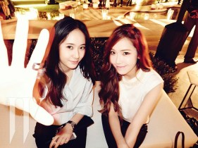 Jessica SNSD and f(x) Krystal - W Magazine June 2014 (3)