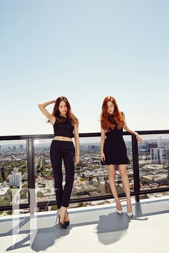 Jessica SNSD and f(x) Krystal - W Magazine June 2014 (4)