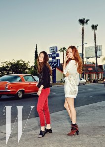 Jessica SNSD and f(x) Krystal - W Magazine June 2014 (9)