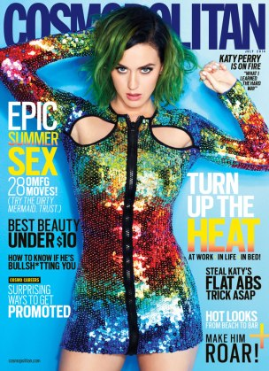 Katy Perry on Cosmopolitan US edition July 2014 Cover