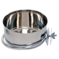 Prevue Pet Products Stainless Steel Coop Cup with Bolt-On Attachment (20oz)