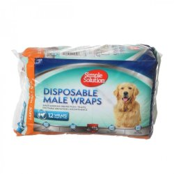 Simple Solution Disposable Male Wraps - Large (12 Count)