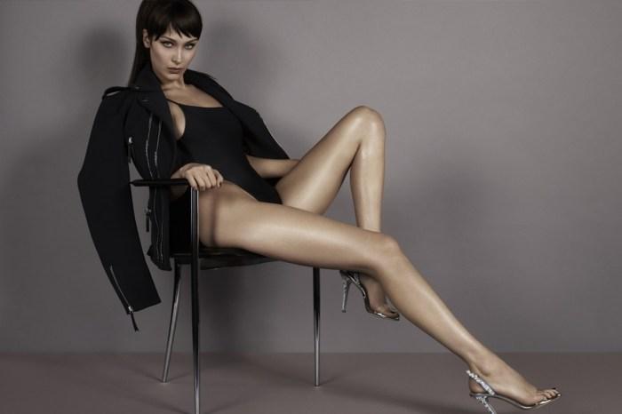 這腿太犯規!Bella Hadid 開高衩性感入鏡 Giuseppe Zanotti 春夏廣告
