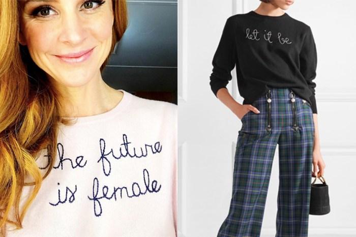默默掘起的毛衣品牌:刺繡文字和素色毛衣原來可以這麼配!