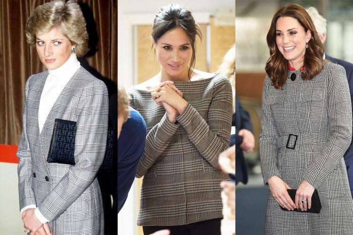 三位皇妃都穿上一樣圖案的服飾,原來這款格紋背後有個皇室故事!