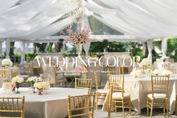 婚禮場地佈置的顏色要如何選?跟著這 3 個方法選就對了