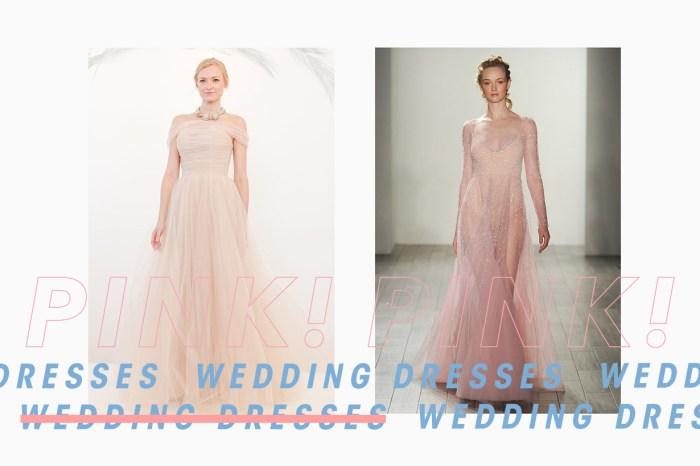 婚紗真的沒有規定是白色的,粉紅色可以讓你看起來更仙氣十足!