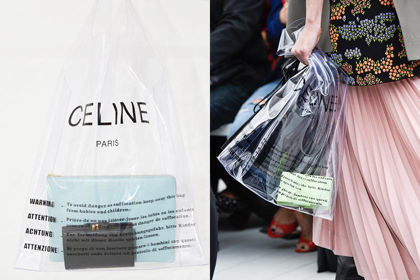 Celine  2018 夏季透明膠袋銀包套裝絕對 Phoebe Philo 的玩味之作