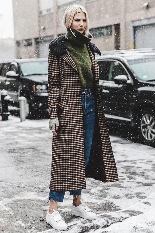 氣溫下降冬日街拍 在保暖的同時也要保持時尚
