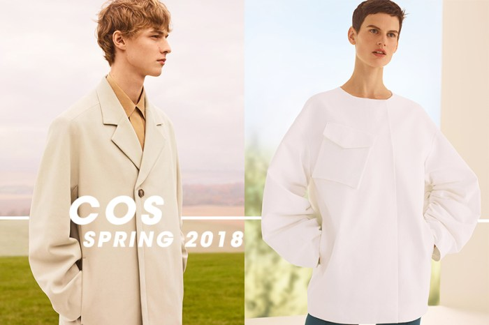 COS 新季男女裝宣傳照搶先曝光,以一抹清新色調迎接春天!