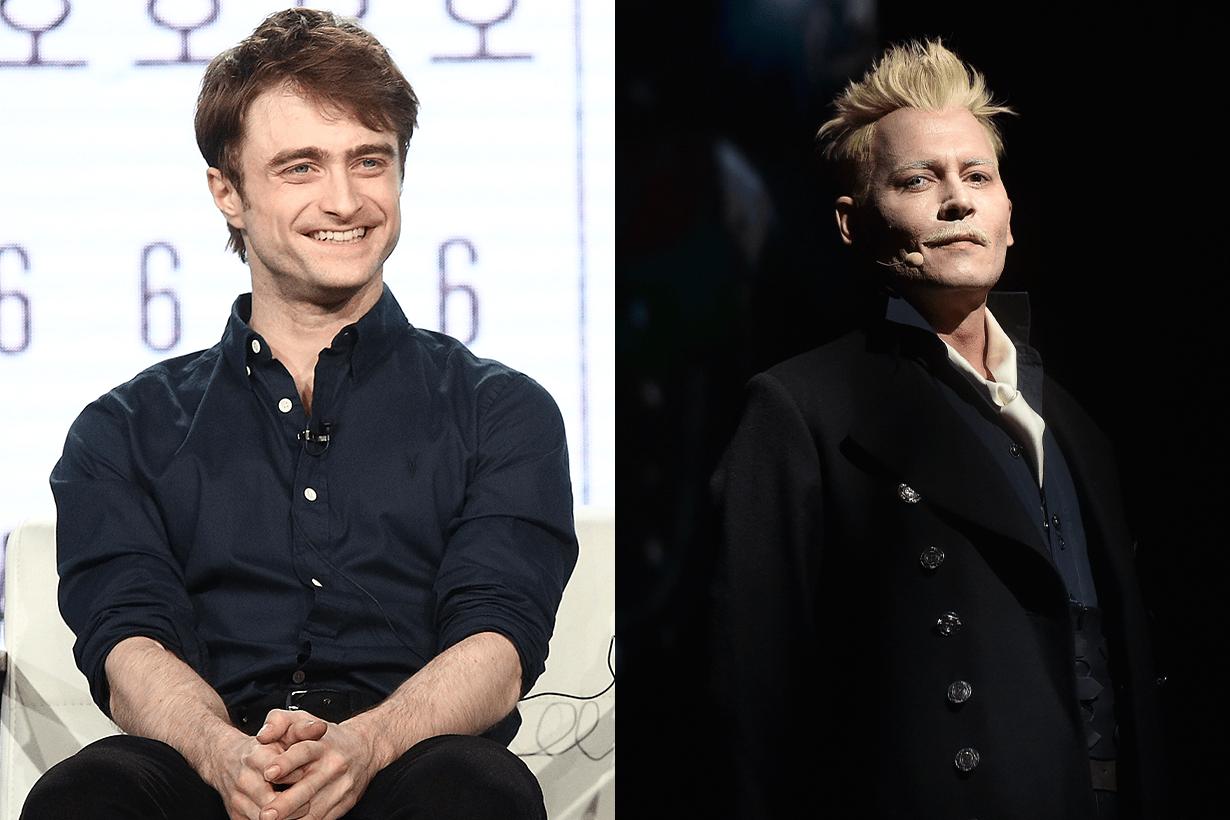 Daniel Radcliffe and Johnny Depp