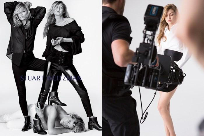 跨世代的時尚魅力!Kate Moss 與 Gigi Hadid 首度攜手合作,大秀長腿!