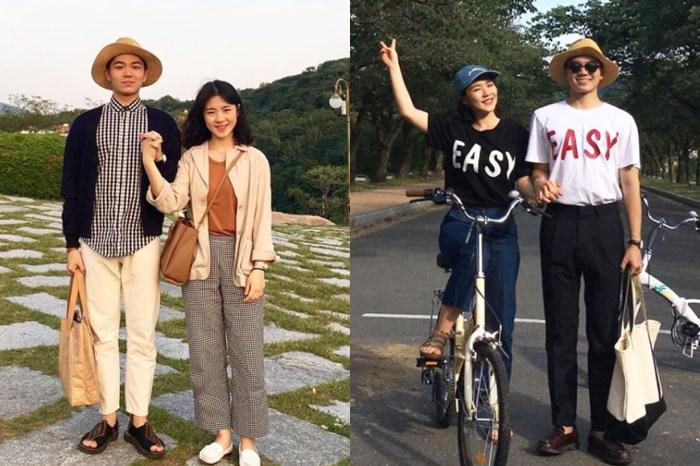 即使風格平實,這對韓國情侶也可以穿出不一樣的 Couple Looks!