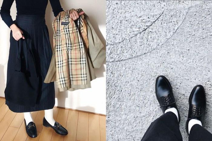 這些日本時尚女生已用行動證明,白襪子配黑皮鞋不只是中學生玩意!