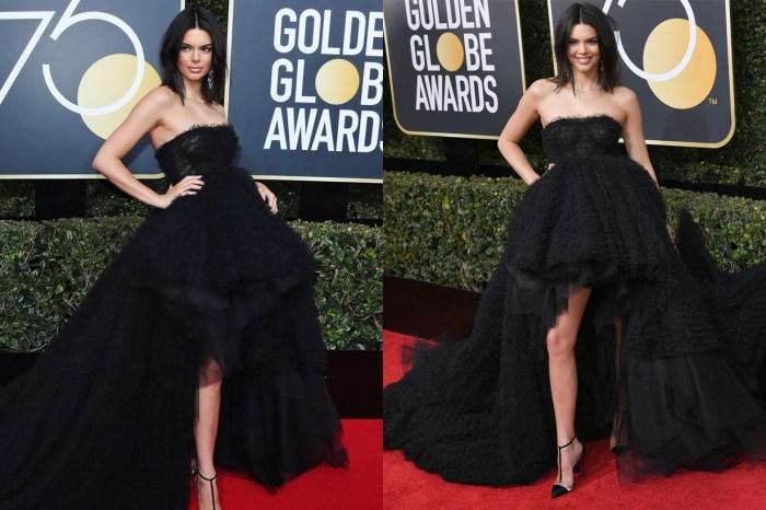 以高貴冷艷造型出席金球獎的 Kendall Jenner,竟然因為這個皮膚問題而被網民批評?