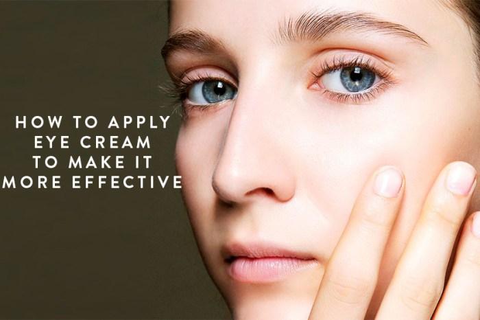 選好眼霜先別得意,你知道應該如何使用嗎?