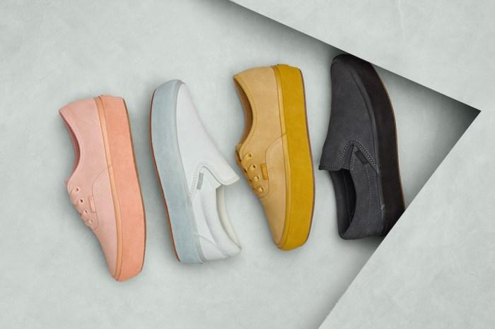 看到 Vans 這新系列「粉彩 Monotone」厚底波鞋,任誰都會一見鍾情!