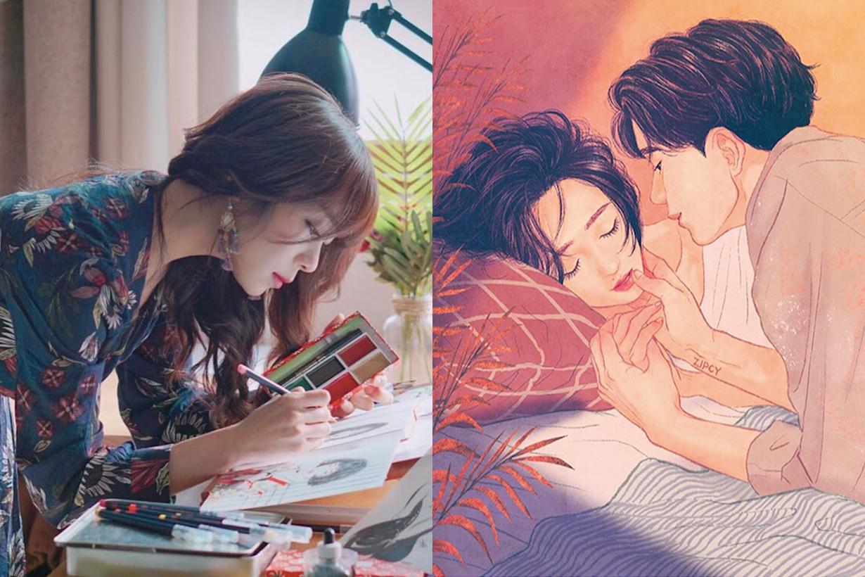 認識 IG 人氣韓國插畫師 Zipcy 畫出女生充滿遐想的情侶日常