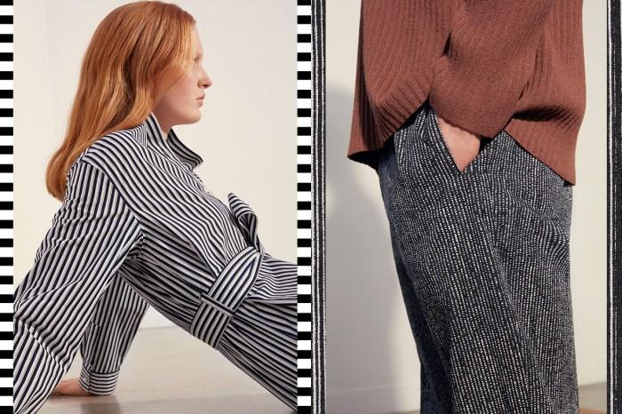 COS 最新男女裝宣傳照,以經典圖案打造清新層次感