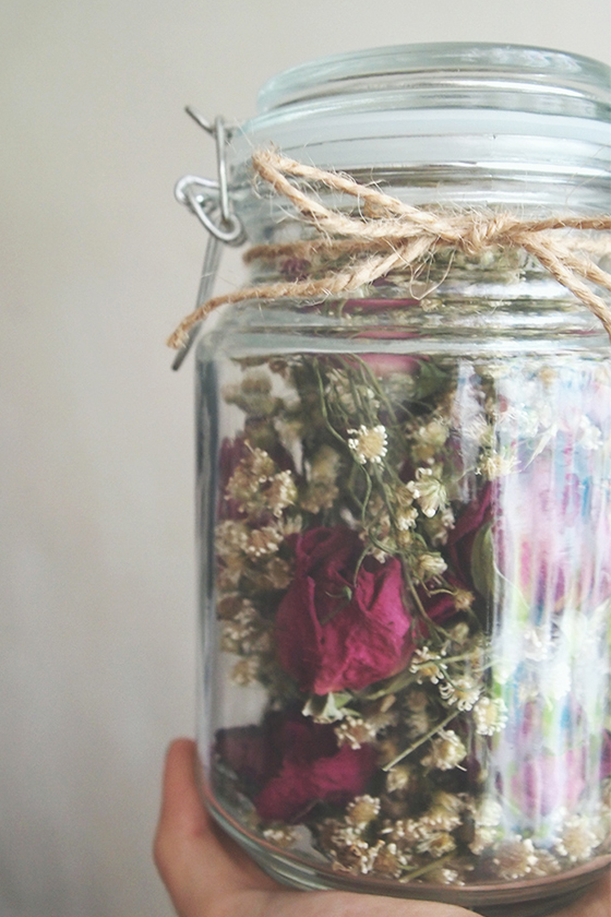 收花後把花永久保存的乾花裝飾