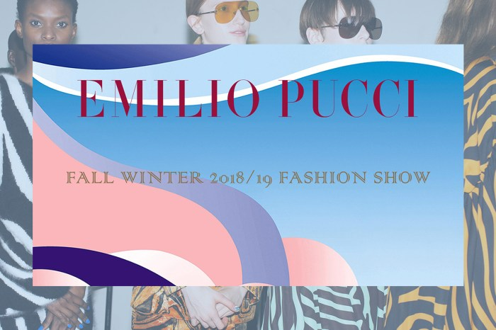 #MFW:要一直追看的時裝週-一起來看 Emilio Pucci FW18 / 19 現場直播!