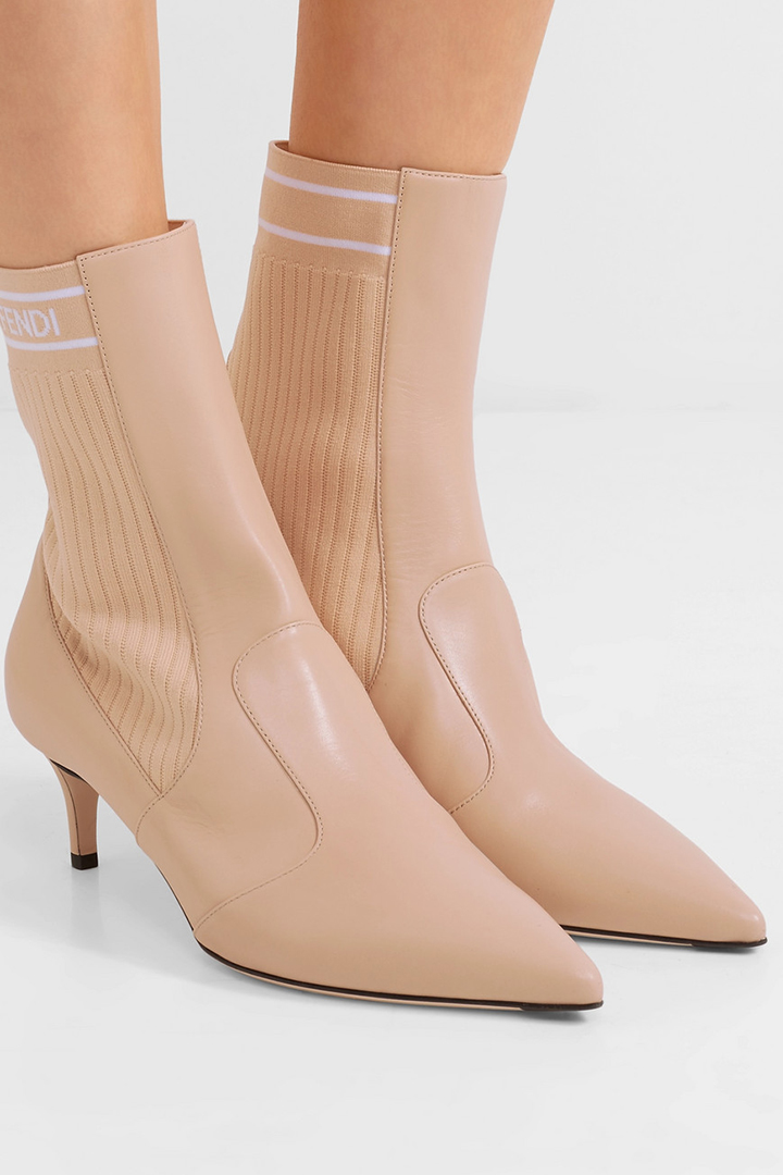 Fendi 全白色 裸粉色 Rockoko Boots 斷碼