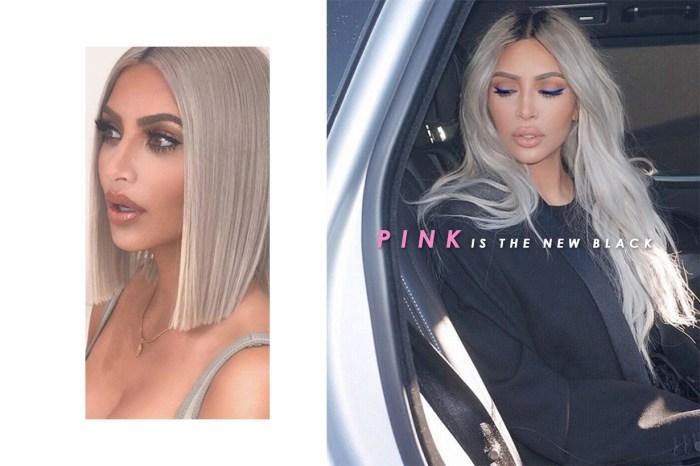 勢必捲起熱潮!Kim Kardashian 把標誌性金髮染成可愛的粉紅色!