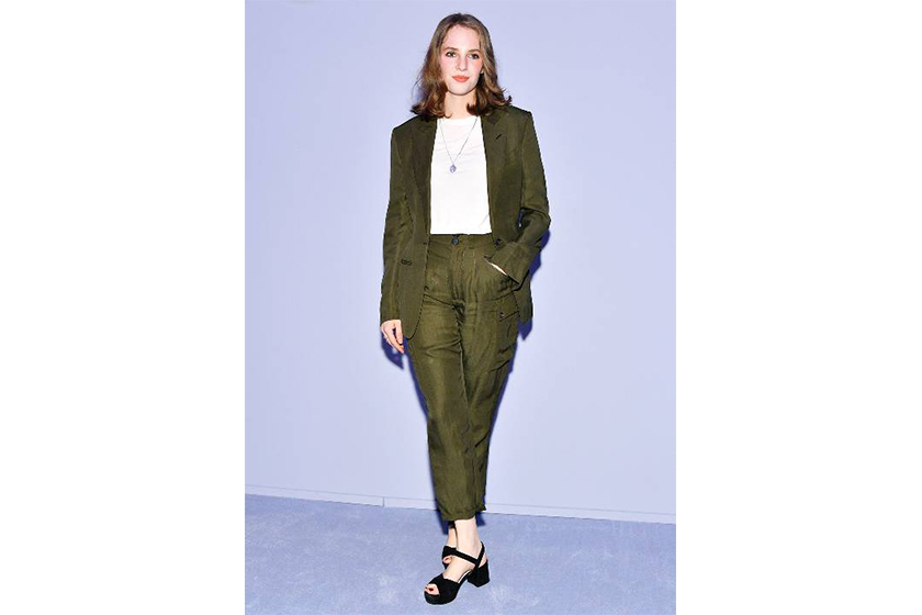 時尚星二代 Uma Thurman 愛女 Maya Thurman-Hawke  出席 2018 秋冬 Tom Ford 紐約時裝周時裝騷