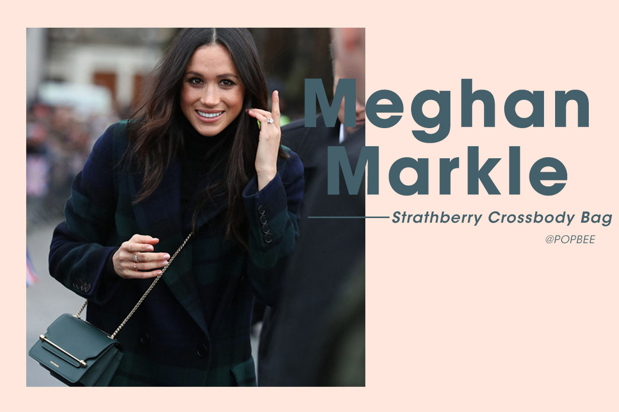 Meghan Markle 背上 Strathberry 斜揹袋打破皇室慣例