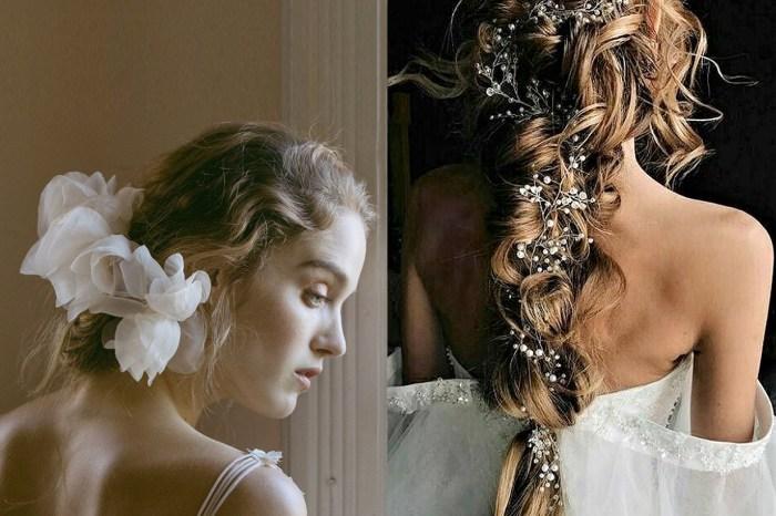 25 種夢幻的新娘頭飾靈感,看完可能會讓你想拋棄傳統頭紗!
