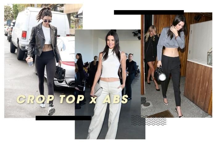 夏天已悄悄逼近-Kendall Jenner 性感的腹肌,將 Crop Top 穿搭昇華!