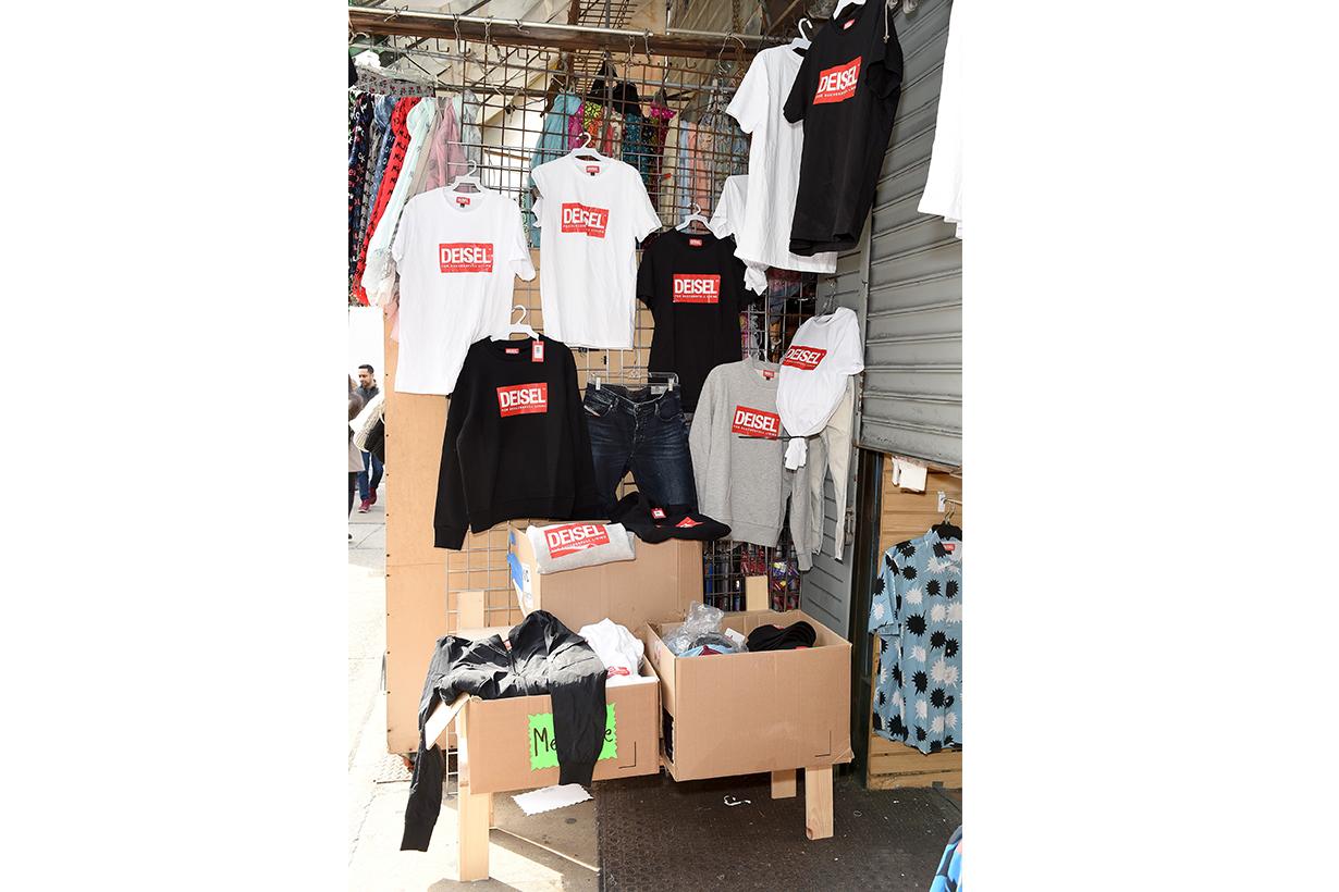 Diesel 在紐約 Chinatown 堅尼街打造了一間 DEISEL  贗品店