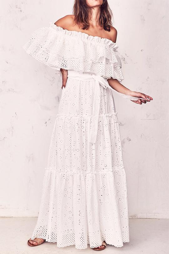 春天氣質仙氣白裙推介