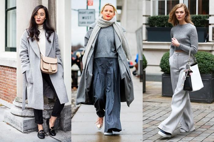 30+ 灰色冬日穿搭靈感:其實灰色比起黑色更易打造層次感!