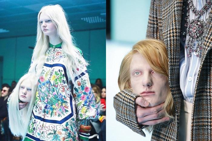 #MFW:Gucci 天橋上模特兒拿著驚嚇的「人頭」,背後原來是有原因的!
