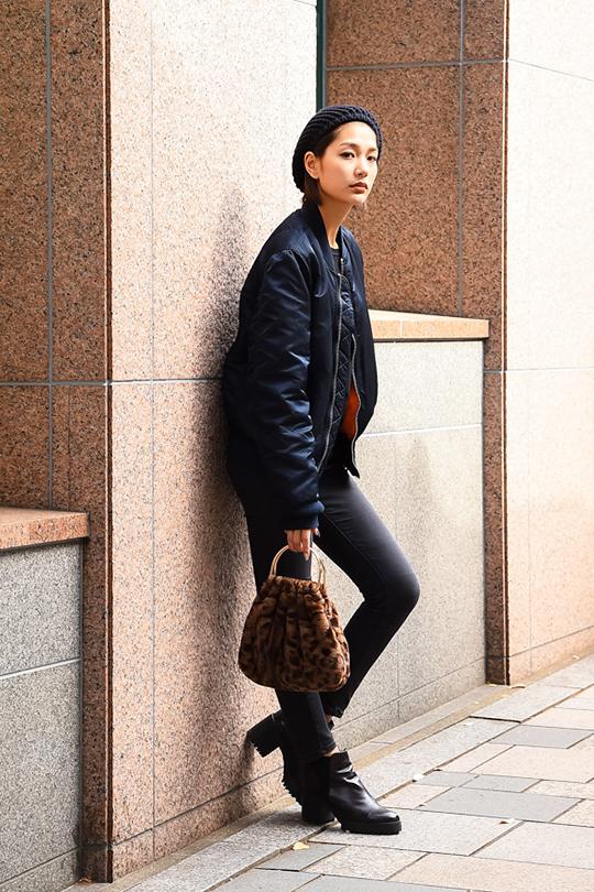 日本女生冬日穿搭街拍